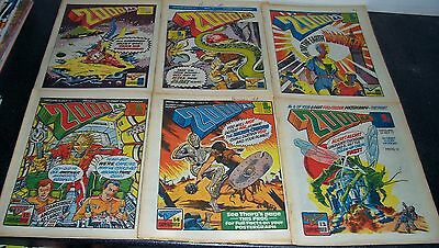 Vintage 2000 AD Run of Progs 31 to 36 inclusive - 1977 - Generally VG Condition