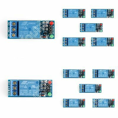 5V 12V 1-Channel H/L Level Relay Module Board Optocoupler Triger For Arduino US