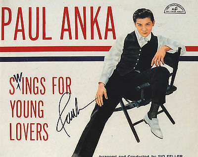 Paul Anka Signed Autographed Music 8X10 Photo  Proof  Swings For Young Lovers