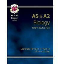 AS/A2 Level Biology AQA Complete Revision & Practice by CGP Books (Paperback,...