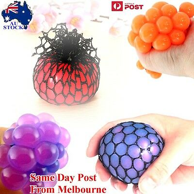Anti Stress Face Reliever Grape Ball Autism Mood Squeeze