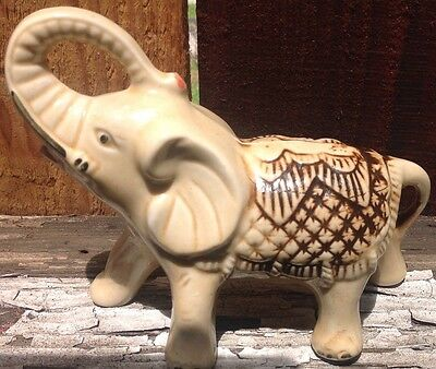 Large WADE Vintage Ceramic Elephant Trunk Up 1981