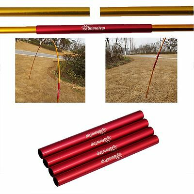 7.9~8.5mm Connector Split Sleeve Pipe Aluminium Alloy Tent Pole Repair Tube
