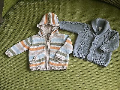 Baby Boy's Jumper Hoodie Cardigan Top Bundle. 3-6 Months. 2 Items From Next
