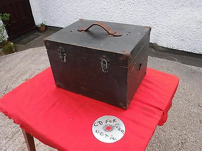 Strong Vintage Wooden Box.with  Leather  Handle. Removable Tray. Free  Delivery