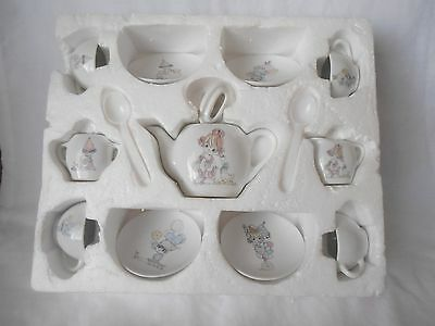 "Precious Moments 16 Piece Toy Tea Set ""All The World Loves A Clown"""