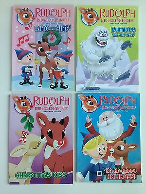 4 RUDOLPH the Red Nosed Reindeer Super Books to Color, Coloring, FREE SHIPPING