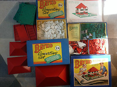 BAYKO building sets 3 X Boxes see listed parts