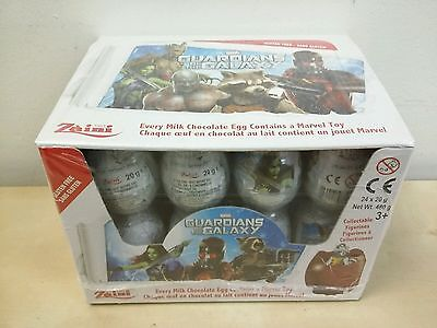 Marvel Guardians of the Galaxy Chocolate Surprise Eggs box of 24 Zaini New