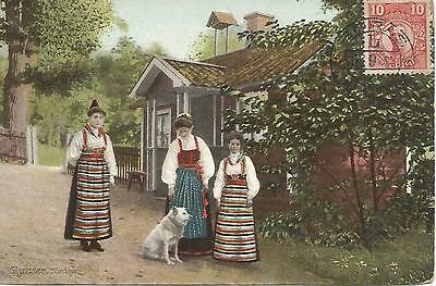 Sweden 6 Sep 1912 Postcard From Boras To Antwerp With Local Costumes 579