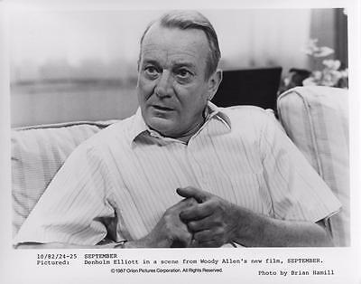 """September"" vintage movie photo, Denholm Elliott 1987"
