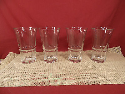 "Libbey Crystal Gibraltar Cafe Set of 4 Cooler Glasses 16 oz  6"" T x 3 3/4"""