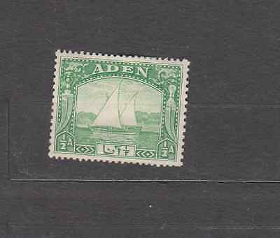 Aden 1937 Dhow Definitives 1/2A Mint Hinged