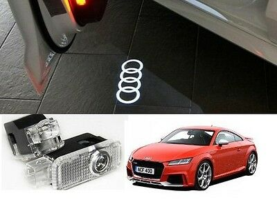 Audi Logo Led Puddle Projector Ghost Door Lights For A3 S3 Rs3 A4 A5 A6 Q5 Q7 Tt