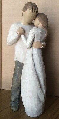 PROMISE FIGURINE ENGAGEMENT WEDDING BY WILLOW TREE ANGELS Husband Wife love 2003