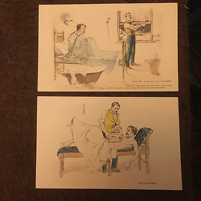 7 Postcards Comic Health Fitness Artist Drawn J Nock Tooting Junction Publisher