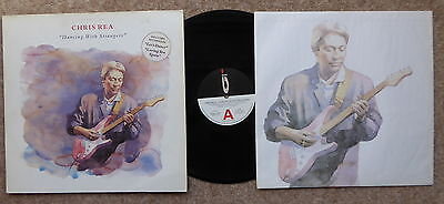 Chris Rea Dancing With Strangers 1987Lp Lyric Inner Stickered Sleeve Excellent