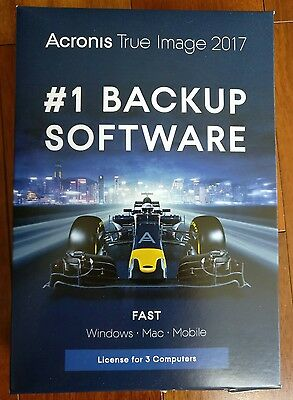 Acronis True Image 2017 3 Devices Windows Mac Mobile Brand New Free Shipping