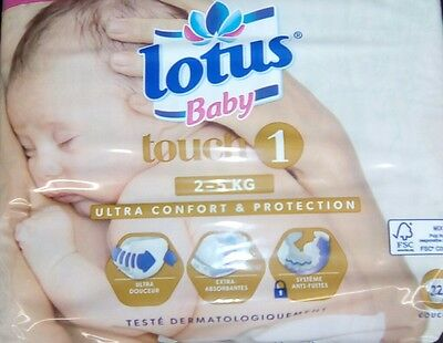 132 Couches Lotus Baby Touch - Taille 1 - 2 Â 5 Kg