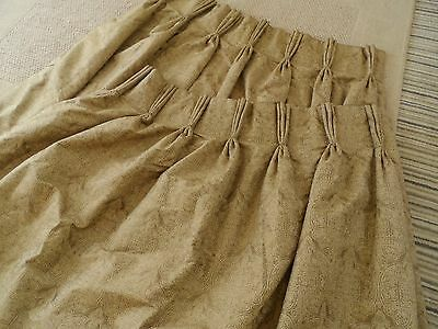 Silk Damask  Curtains Made to Measure Triple Pinch Pleat Heading 100% silk