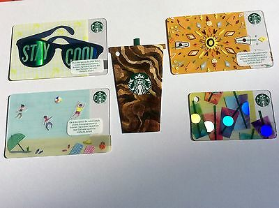 Starbucks card Germany  # 6136 Set of 5 new Summer 2017 Cards new issue
