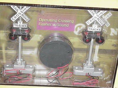 "mth railking...30-11014...""O"" operating crossing flasher w/sound..new/boxed"
