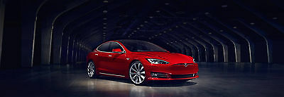 2017 Tesla Model S 75 D - Premium Upgrades Package Brand Spanking New - Tesla Model S 75D (Red exterior /White interior)