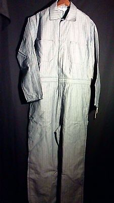 Vintage WALLS Master Made Mechanic Worker Coveralls Size Large Tall Relaxed Fit