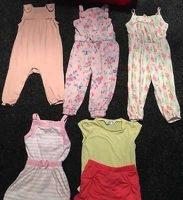 Baby Girl Summer Bundle 9-12 Months Holiday Jumpsuit Playsuit Shorts Tshirt