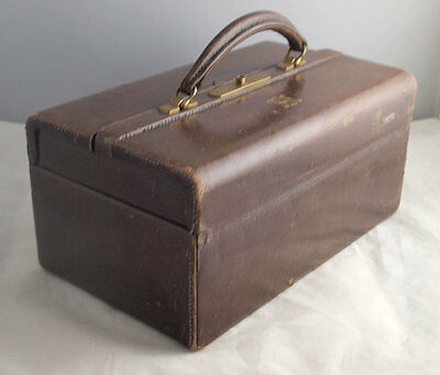 Asprey Vintage Leather Gladstone Style Vanity Case Bag