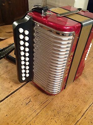 Hohner Erica D/G melodeon in brand new condition