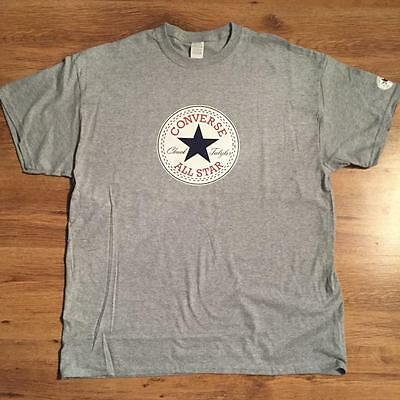 Men`s T-shirt SKATEBOARD CONVERSE Grey New Size L