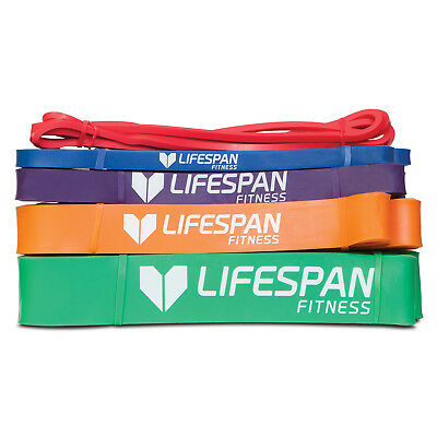 NEW Resistance Bands Set of 5 - Includes 5mm, 13mm, 21mm, 32mm, 45mm