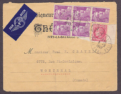 France postal history 1949 Advertising cover