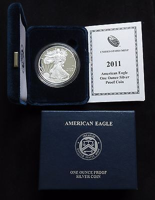2011-W U.S. American Silver Eagle PROOF in box w/COA