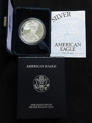 1999-P U.S. American Silver Eagle PROOF in box w/COA