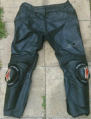 "Alpinestars Leather Motorcycle Trousers 36"" Motorbike"