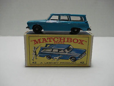 Matchbox Studebaker Station Wagon # 42B With Box Scale 1.64 Made In England 1965