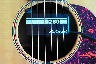 DeArmond 260 Vintage +Top Line Acoustic Pickup with Piezo+Humbucking Combo!