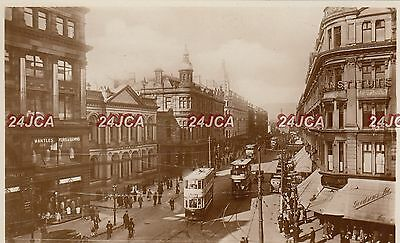 Northern Ireland Real Photo. Royal Avenue, Belfast. Trams! Rare!   1930s