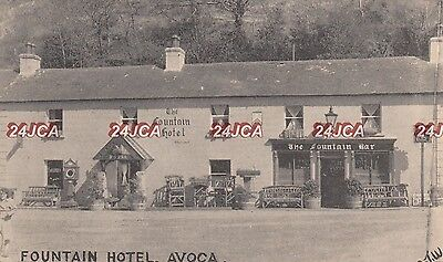 Irish Postcard. Fountain Hotel. (Fitzgerald's!)  Avoca. Co. Wicklow.  c 1930s
