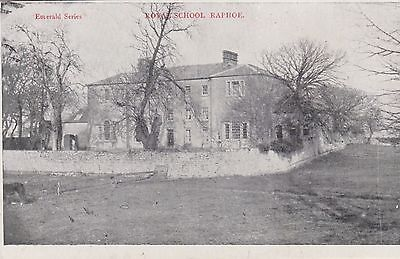 Irish Postcard. Royal School, Raphoe, Co. Donegal. Fine condition!  Mailed 1904