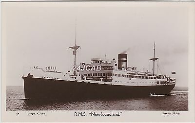 "RMS/HMHS ""Newfoundland"" Real Photo. Royal Mail then hospital Ship. c 1920s"