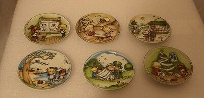 Joan Walsh Anglund min - Collector Plates  Walter Germany SET OF 6