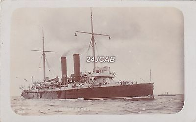 """Royal Navy Real Photo. HMS """"St George"""". First class cruiser. WW1.  c 1900"""