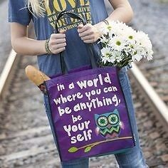 Natural Life Recycled Plastics Tote Bags . Be yourself