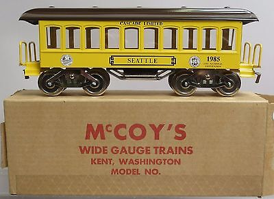 "McCoy ""Cascade Limited"" 1985 Convention Parlor Car w/Box Standard Gauge NOS"
