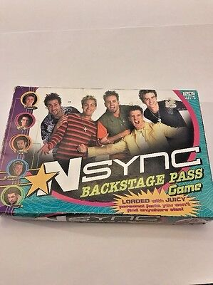 Nsync Backstage Pass Board Game, Game Replacement Pieces, Boy Band Memorabilia