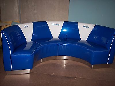 Booth Retro Seat With Matching Retro Table And  Two Chairs