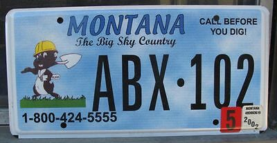 Montana Call Before You Dig - Utility Council License Plate